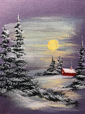Painting - Peaceful Night by Dorothy Maier