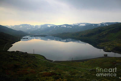 Peaceful Norwegian Lake Art Print by Carol Groenen