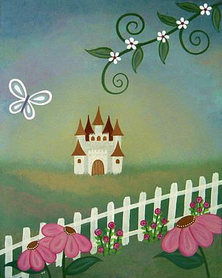 Girl Painting - Peaceful Palace by Samantha Shirley