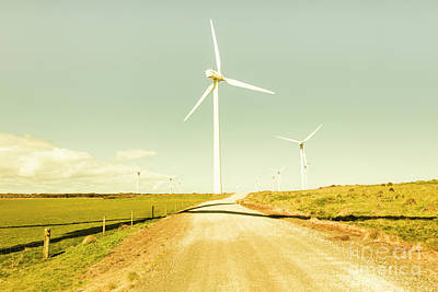 Wind Wall Art - Photograph - Peaceful Pastel Wind Farm by Jorgo Photography - Wall Art Gallery