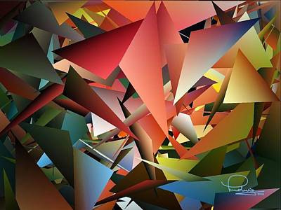 Digital Art - Peaceful Pieces by Ludwig Keck
