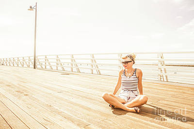 Candid Photograph - Peaceful Pin-up by Jorgo Photography - Wall Art Gallery