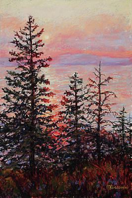 Painting - Peaceful Pines by Mary Giacomini