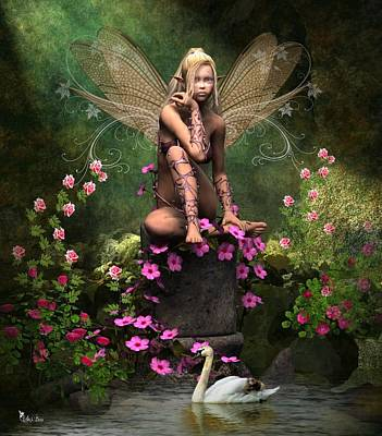 Digital Art - Peaceful Pixie by Ali Oppy