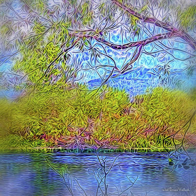 Digital Art - Peaceful Pond Day by Joel Bruce Wallach