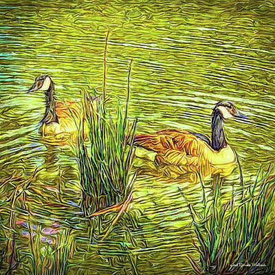Digital Art - Peaceful Pond by Joel Bruce Wallach