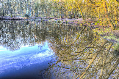 Photograph - Peaceful Pond Reflections  by David Pyatt