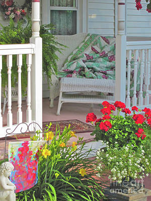 Photograph - Peaceful Porch In A Small Town by Nancy Lee Moran