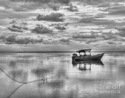 Boats Photograph - Peaceful Reflection by Serge Chriqui