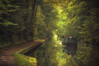 Barges Photograph - Peaceful Reflections by Chris Fletcher