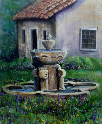 Carmel Mission Painting - Peaceful Retreat by Kym Inabinet