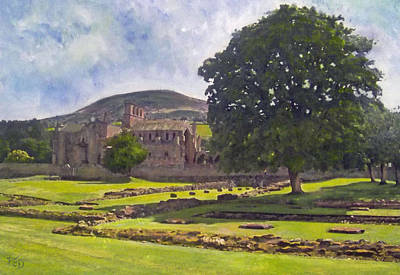 Painting - Peaceful Retreat - Melrose Abbey  by Richard James Digance