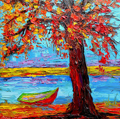 Peaceful Retreat - Modern Impressionist Knife Palette Oil Painting Art Print by Patricia Awapara