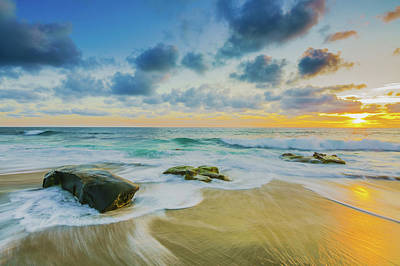 Seascape Photograph - Peaceful Return by Scott Campbell