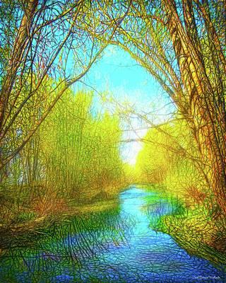 Digital Art - Peaceful River Spirit by Joel Bruce Wallach