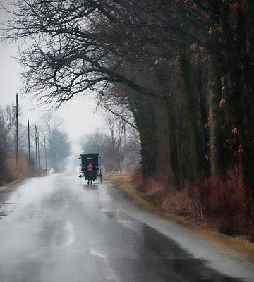 Amish Photograph - Peaceful Road by David Arment