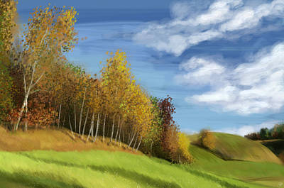 Painting - Peaceful Scenery by Kate Black