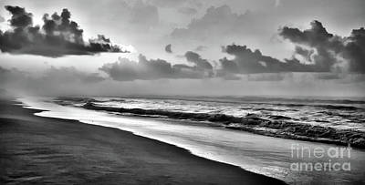 Photograph - Peaceful Seas Bw by Dan Carmichael