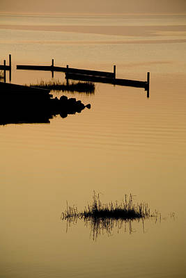 Docks Etc Photograph - Peaceful Silhouettes by Stephen St. John