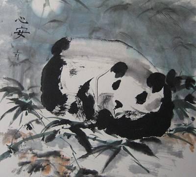Painting - Peaceful Sleeper by Laurie Samara-Schlageter