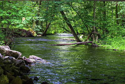 Photograph - Peaceful Stream by Robert McKay Jones