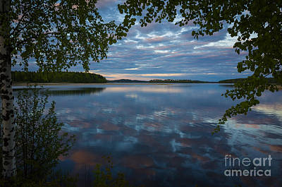 Photograph - Peaceful Summer Evening At The Lake by Ismo Raisanen