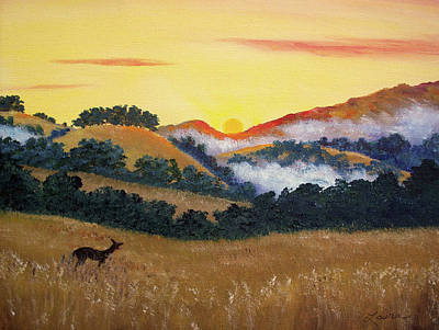 Mist Painting - Peaceful Sunset At Fremont Older by Laura Iverson