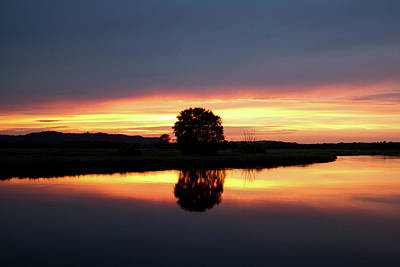 Photograph - Peaceful Sunset by Inspired Arts