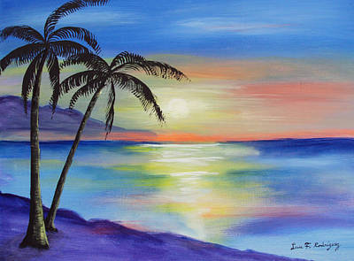 Peaceful Sunset Art Print by Luis F Rodriguez
