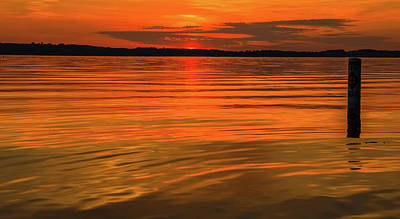 Photograph - Peaceful Sunset On Grand Traverse Bay by Dan Sproul