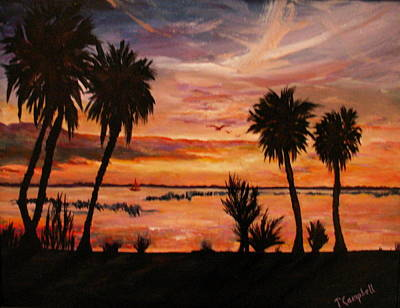 Painting - Peaceful Sunset by Trish Campbell