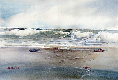 Painting - Peaceful Surf by P Anthony Visco