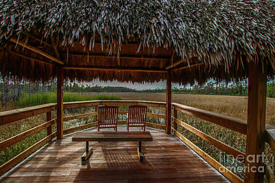 Photograph - Peaceful Tiki Hut by Tom Claud