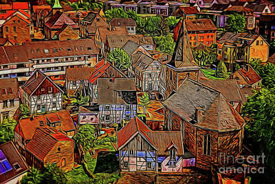 Photograph - Peaceful Town 19818 by Ray Shrewsberry