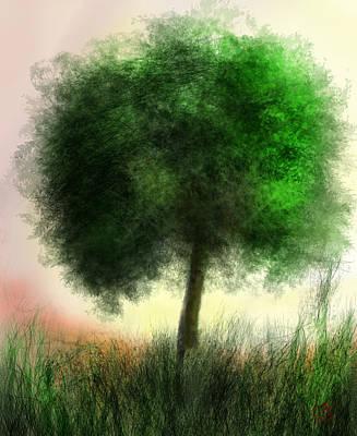 Peaceful Tree Art Print by Cj Grant