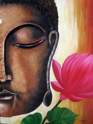 Peaceful Art Print by Usha Rai