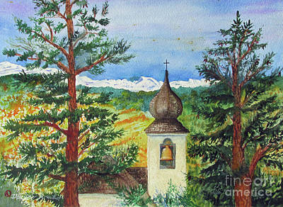Peaceful Valley Bell Tower Print by Donlyn Arbuthnot