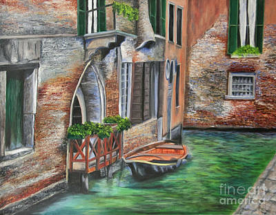 Italian Landscapes Painting - Peaceful Venice Canal by Charlotte Blanchard