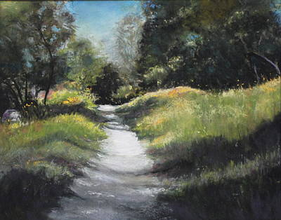 Pastel - Peaceful Walk In The Foothills by Sandra Lee Scott
