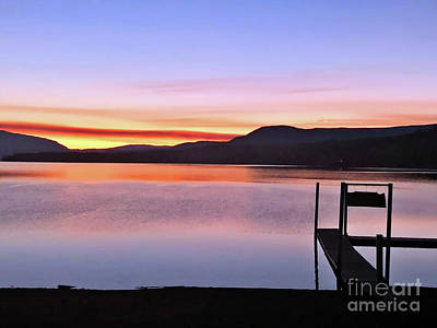 Photograph - Peaceful Water Sunset by Victor K