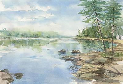 Painting - Peaceful Waters by Kerry Kupferschmidt