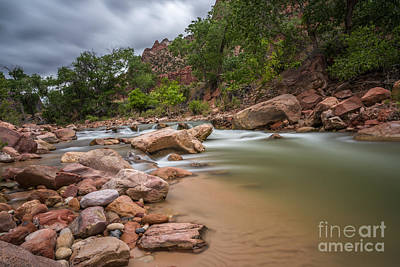 Photograph - Peaceful Waters Of Zion by Leo Bounds