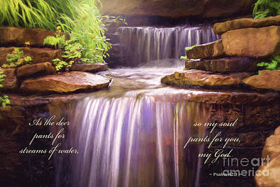 Digital Art - Peaceful Waters Psalm 42 by Sharon McConnell