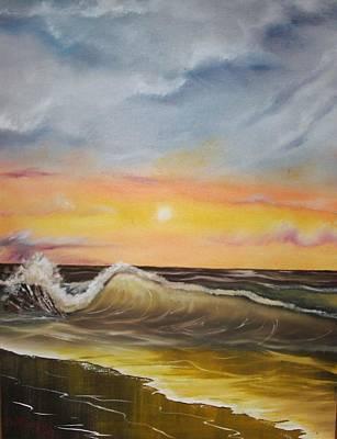Peaceful Wave Art Print by Scott Easom
