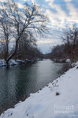 Photograph - Peaceful Winter At James River by Jennifer White