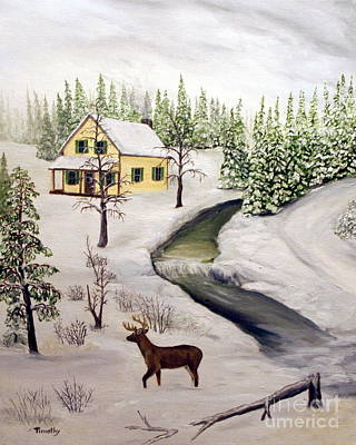 Peaceful Winter Day Art Print by Timothy Smith