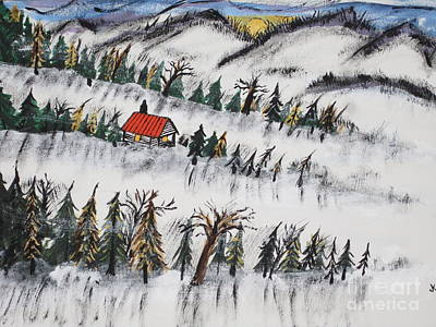 Peaceful Winter Daybreak Original by Jeffrey Koss