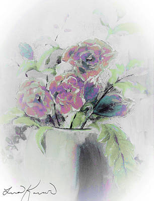 Painting - Peaceful Winter Floral Bouquet Painting by Lisa Kaiser