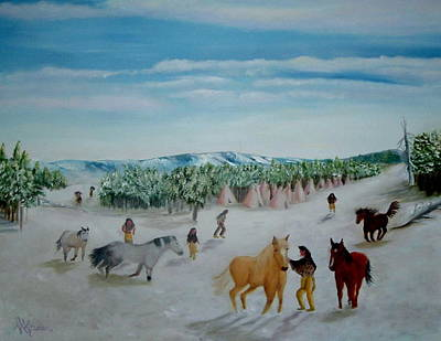 Peaceful Winter Art Print by Mary Kaser