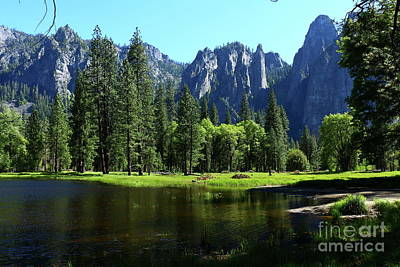 Photograph - Peaceful Yosemite Valley With Merced River by Christiane Schulze Art And Photography